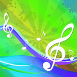 Treble Clef Background Shows Sound And Music Stock Photo
