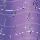 Treble clef bezszwowy wzór Zdjęcie Stock
