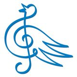 Treble clef bird Royalty Free Stock Photography
