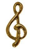 Treble clef, decorative element, isolated on white background royalty free stock photo