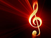 Treble clef Royalty Free Stock Photography