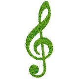 Treble clef of grass Stock Image