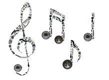 Treble clef gromadzić od nowych auto dodatkowych części Obrazy Royalty Free