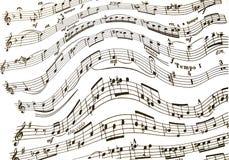 Treble clef i basowego clef notatki na klepce ilustracja wektor