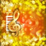 Treble clef i saksofonowych pianino kluczy jaskrawy tło royalty ilustracja