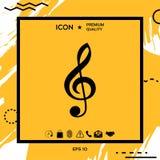 Treble clef icon. Element for your design Stock Photo