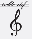 Treble clef icon Royalty Free Stock Images