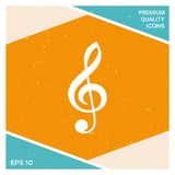 Treble clef icon. Signs and symbols - graphic elements for your design Stock Photography