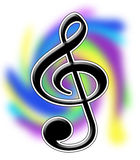 Treble Clef Illustration. Colorful Treble Clef Illustration with Working path Royalty Free Stock Photography