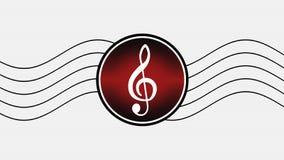 Treble clef illustration Royalty Free Stock Photo