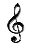 Treble Clef,isolated Royalty Free Stock Photo