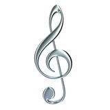 Treble clef isolated Royalty Free Stock Images