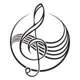 treble clef logo Fotografia Royalty Free