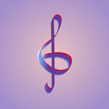 Treble clef. Logo template Royalty Free Stock Photo