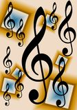 Treble Clef Music Background Royalty Free Stock Photos