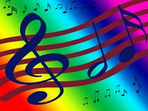 Treble Clef Music Background Stock Photos