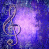 Treble clef music Stock Photo