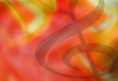 Treble Clef Music Notes Background. Colorful Treble Clef Musical Background Illustration Royalty Free Stock Images