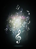 Treble clef or music symbol Royalty Free Stock Photos