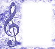 Treble Clef Musical Poster Royalty Free Stock Photography