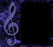 Treble Clef Musical Poster Royalty Free Stock Image