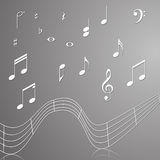 Treble clef musical signs of paper Royalty Free Stock Photography