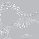 Treble clef musical signs of paper Stock Photography