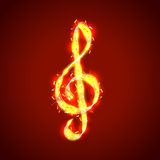 Treble clef of notes, musical vector background Royalty Free Stock Photos