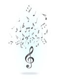 Treble clef and notes Royalty Free Stock Images