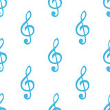 Treble clef seamless pattern Royalty Free Stock Photography
