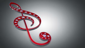 Treble Clef stock video