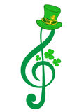 Treble clef of a St. Patrick's Day Stock Photos