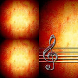Treble clef staff  background. Musical background with treble clef staff and with empty space for writing Royalty Free Stock Photo