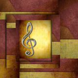 Treble clef staff Royalty Free Stock Photos