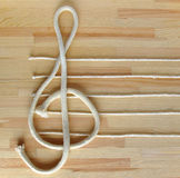 Treble clef and stave Stock Photo