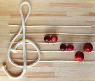 Treble clef and stave Royalty Free Stock Photos