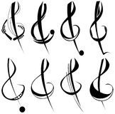 Treble clef tattoo Royalty Free Stock Photography