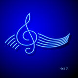 Treble Clef. Vector Background. Stock Photos