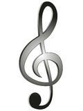 Treble clef. Treble clef, on a white background, illustration Royalty Free Stock Photography