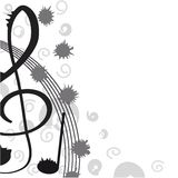 Treble clef for your design. Royalty Free Stock Photography