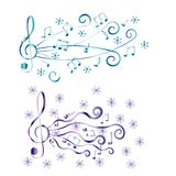 Treble clef for your design. A vector illustration Stock Photography