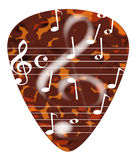 Treble Cleff Plectrum Royalty Free Stock Images