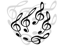 Treble clefs Stock Photo