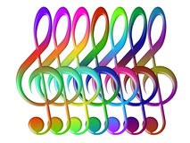 Treble clefs Stock Photos