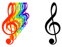 Treble clefs Royalty Free Stock Image