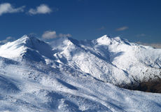 Treble Cone ski hill Royalty Free Stock Photo