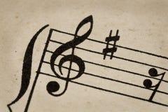 treble för klavbegreppsmusik Arkivbild