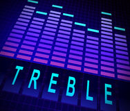 Treble levels concept. Royalty Free Stock Images