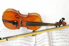 Treble top still life simple violin Stock Photo