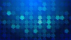 Trebol blue background. Animation of Trebol blue background stock footage